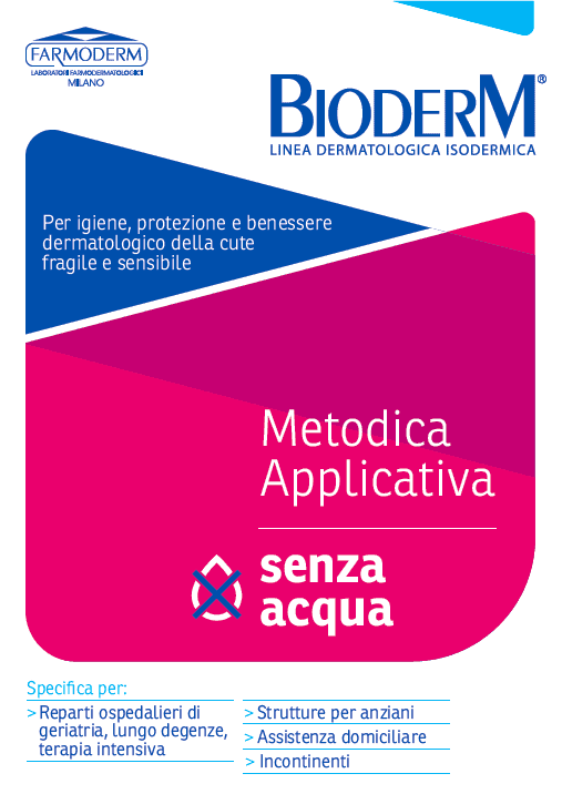 Metodica applicativa senza acqua Farmoderm Bioderm