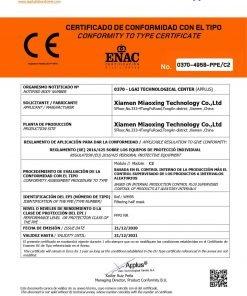 Certificato di Conformità mascherine ffp2